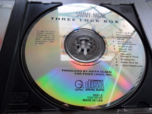 sammy hagar cd three look box importado eua 1982