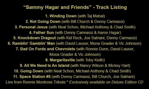 sammy hagar & friends deluxe edt [cd+dvd] import van halen