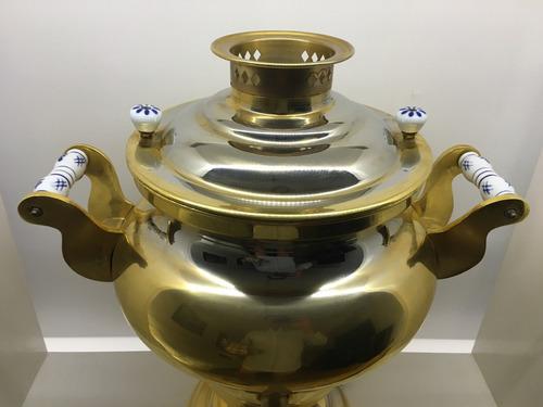 samovar profesional bañado oro 18 tetera 17 litros (germany)