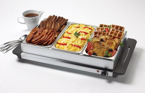 samovares buffet triple bandeja calentamiento betty crocker