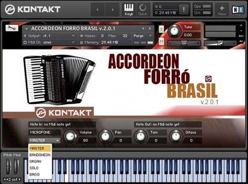 sampler de acordeon p/ kontakt 4 e 5