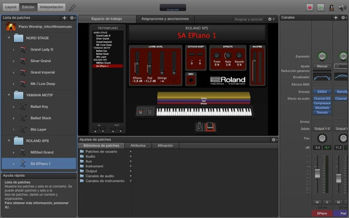 samples mainstage - nord stage 2 - roland - yamaha motif