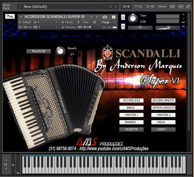 Samples Piano Korg Kronos 2 + Acordeon Scandalli Super Vi