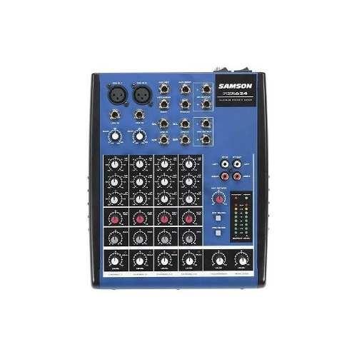 samson - 6-channel mixer - azul / negro