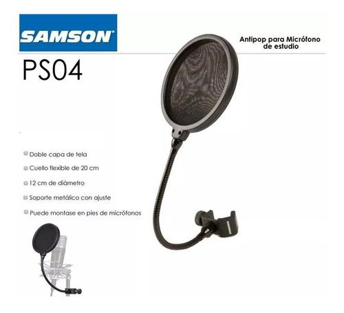 samson ps04 pop filter con cuello de ganso estudio