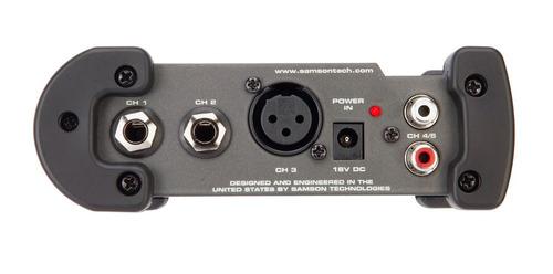 samson s-mix mini mixer 5 entradas, 1xlr + rca st +plug