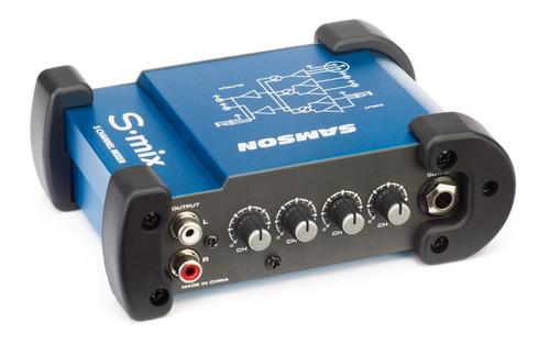 samson s-mix mini mixer 5 entradas  xlr + rca +plug