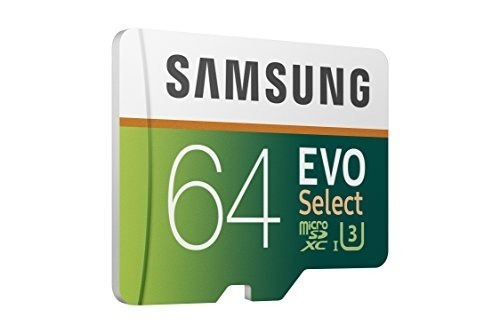 samsung 64gb 100mb / s (u3) microsdxc tarjeta de memoria evo