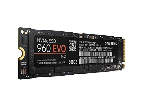 samsung 960 evo series - 500gb nvme - m.2 ssd interno (mz-v6