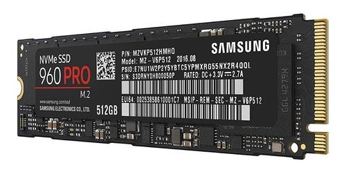samsung 960 pro series m.2 512gb pronta entrega lacrado