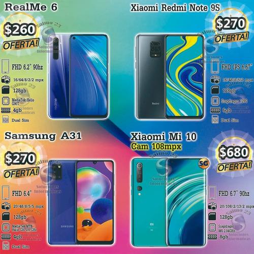 samsung a10s $153 a31 128gb $270 homologado