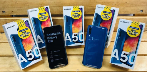 samsung a50 4gb+64 25/25mpx android 9 en 280us