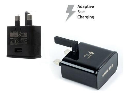 samsung cargador rápido 100% original + adaptador chileno