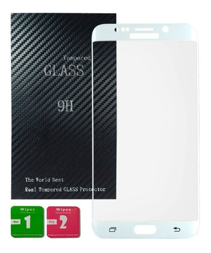 samsung cristal templado curvo 9h blanco s6 edge plus + kit