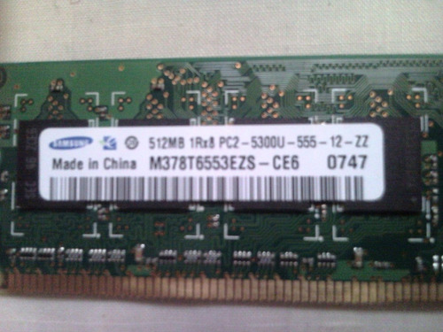 samsung ddr2, pc2-5300, 667mhz, 512mb
