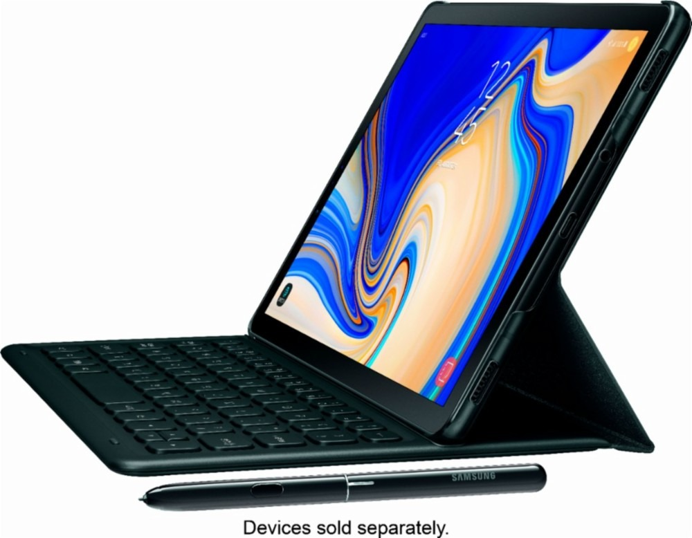 e7e7541fd66 samsung funda book cover keyboard for galaxy tab s4 - black. Cargando zoom.