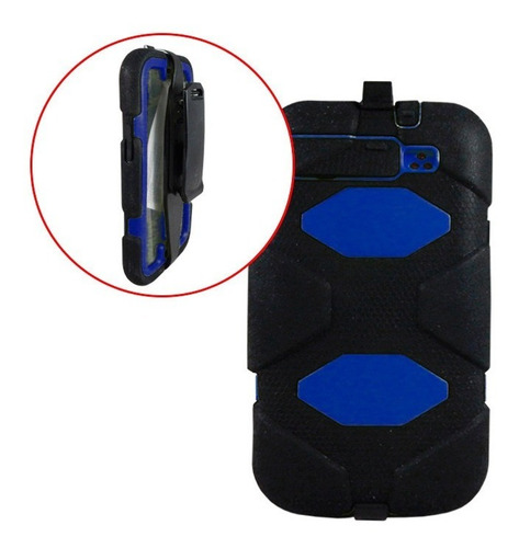 samsung funda estilo survivor galaxy s3 uso rudo negro azul