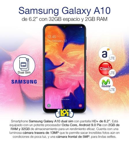 samsung galaxy a10 6.2' octa core 32gb 2gb gtia oficial loi