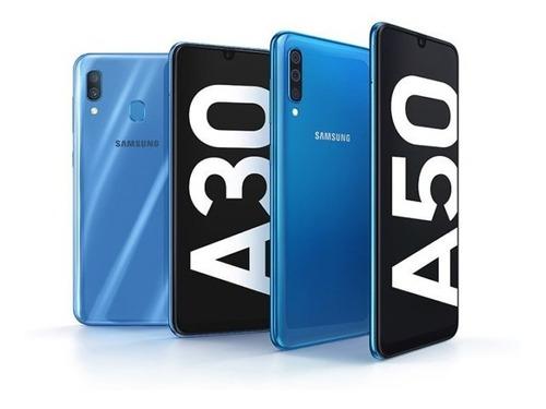 samsung galaxy a30 64gb/4gb + vidrio nuevos somos tienda