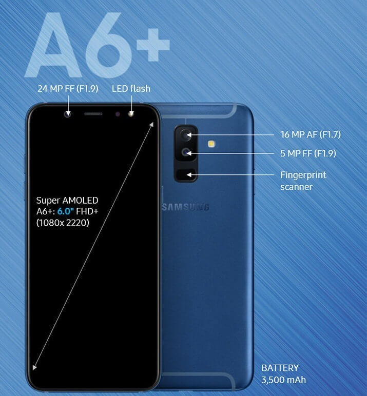 carcasas samsung galaxy a6 plus