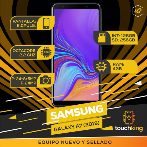 samsung galaxy a7 2018 128gb ram 4gb libre d fabrica- mer pa