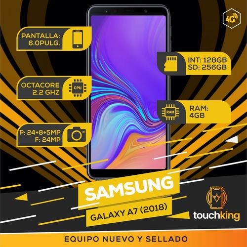 samsung galaxy a7 2018 128gb ram 4gb libre d fabrica sellado