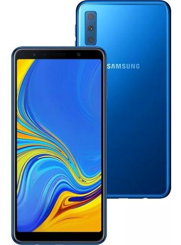 samsung galaxy a7 2018 64gb 4gb dual 3 cam, lacrado+ brinde