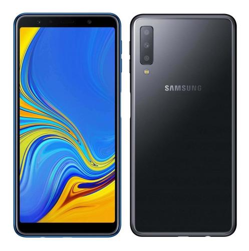 samsung galaxy a7 2018 64gb negro envio gtia 6 cuotas s/i