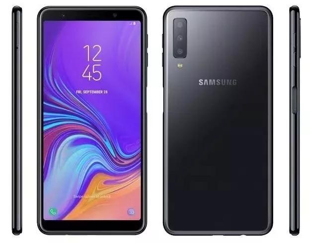 32c53060aa Samsung Galaxy A7 2018 64gb Preto Sm-a750g Melhor Q A8 - R  1.689