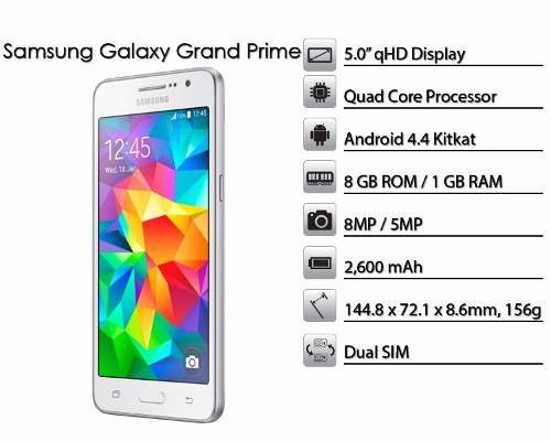 samsung galaxy grand prime libre 4g - gtia oficial envio