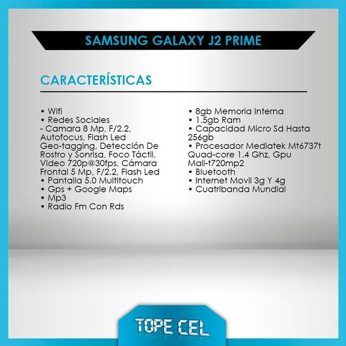 samsung galaxy j2 prime * libres * nuevos * 16gb  * tope cel