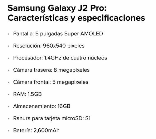 samsung galaxy j2 pro 125 verds
