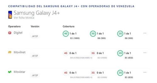 samsung galaxy j4 plus 16 gb rom / 2 gb ram