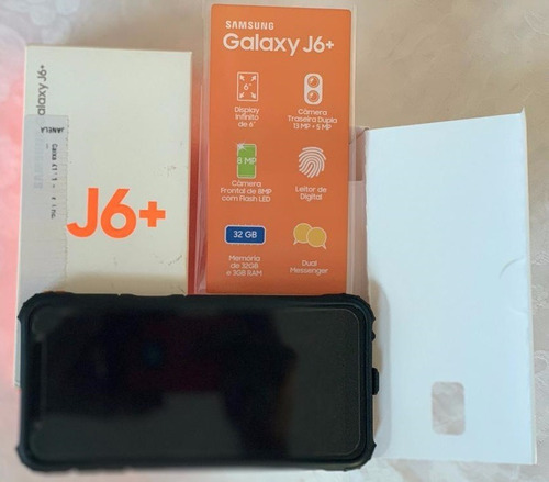 samsung galaxy j6+ dual chip 32gb preto 3gb ram 5 meses uso