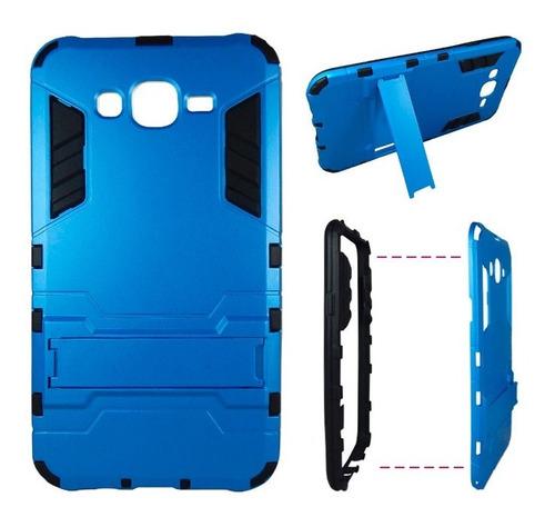 samsung galaxy j7 hybrid armor case dual armadura azul