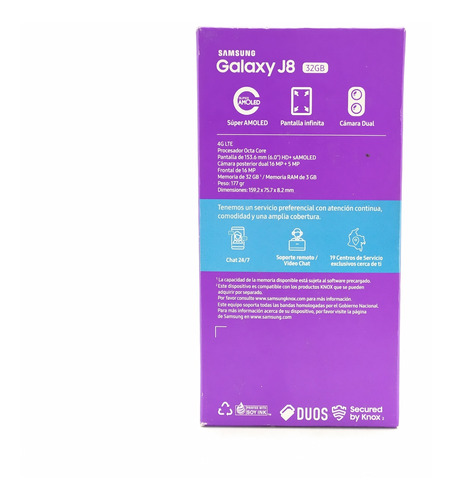 samsung galaxy j8 32gb cámara 16+5mp cámara dual