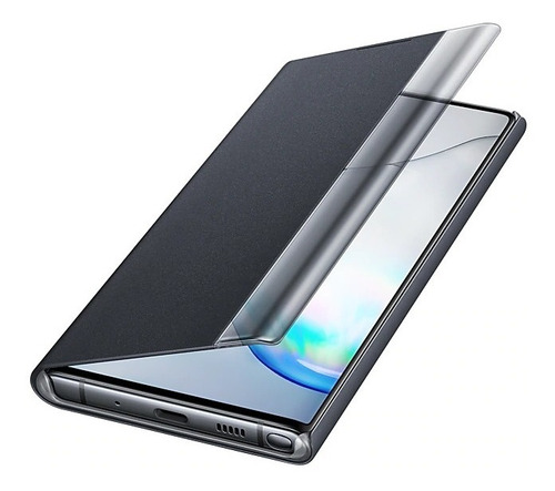 samsung galaxy note 10 clear view cover negro