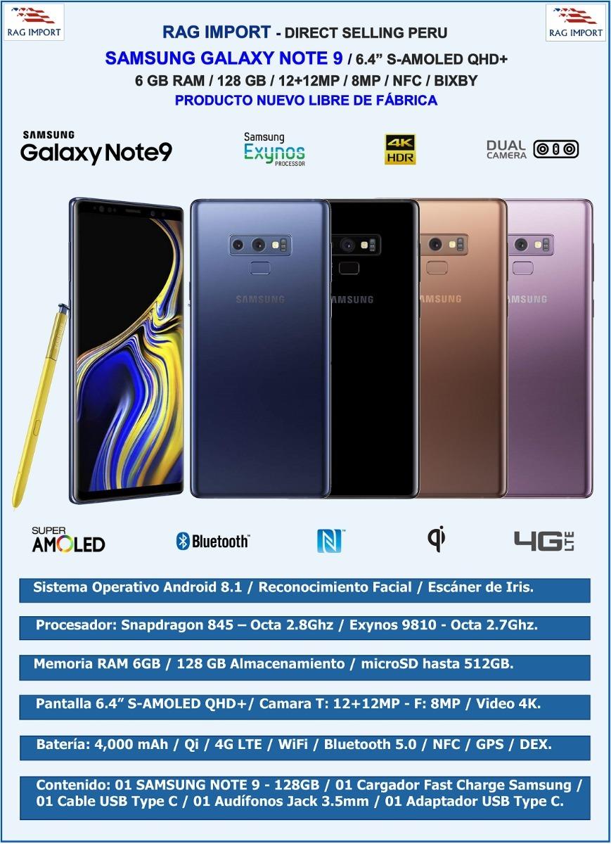 Samsung Galaxy Note 9 Snapdragon / 6gb + 128gb / 6 4 Qhd New