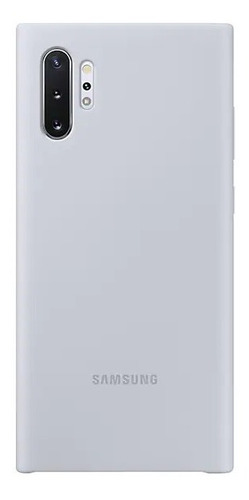 samsung galaxy note10+ silicone cover gris