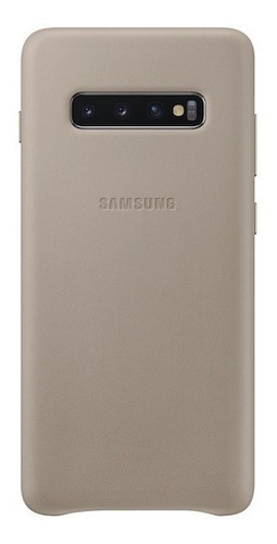 samsung galaxy s10+ leather back cover, gray