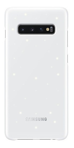 samsung galaxy s10+ led cover blanco