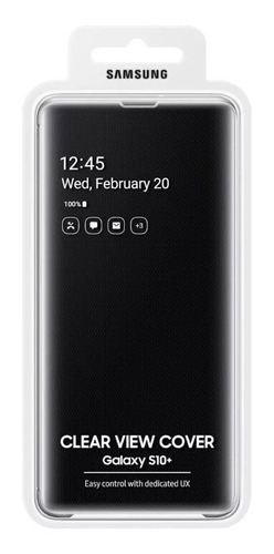 samsung galaxy s10 y plus funda flip cover s-view original
