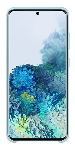 samsung galaxy s20  silicone cover azul coral