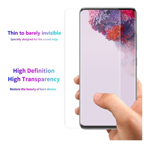 samsung galaxy s20 ultra lámina pantalla silicona flex
