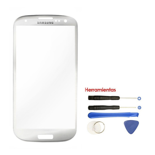 samsung galaxy s3 cristal touch gorilla glass blanco + kit