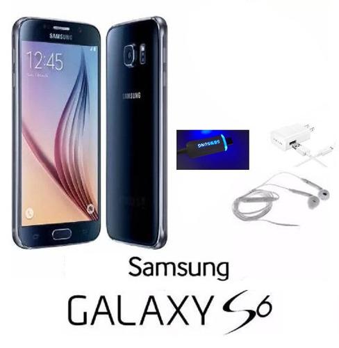 samsung galaxy s6  con cargador audifono 100% original libre