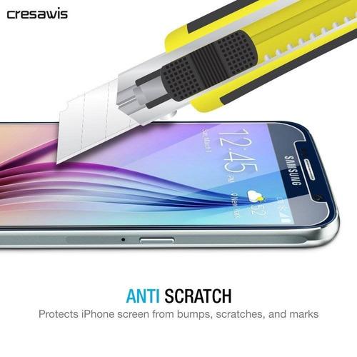 samsung galaxy s6 protector de pantalla, cres + envio gratis
