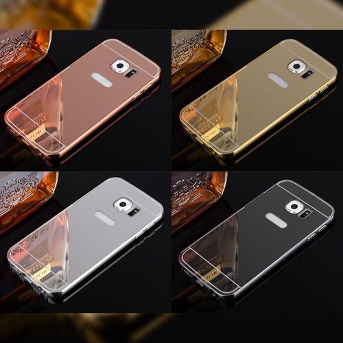 samsung galaxy s7 edge carcasa bumper metalico tipo espejo