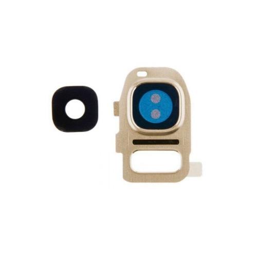 samsung galaxy s7 flat cubierta lente camara marco dorado