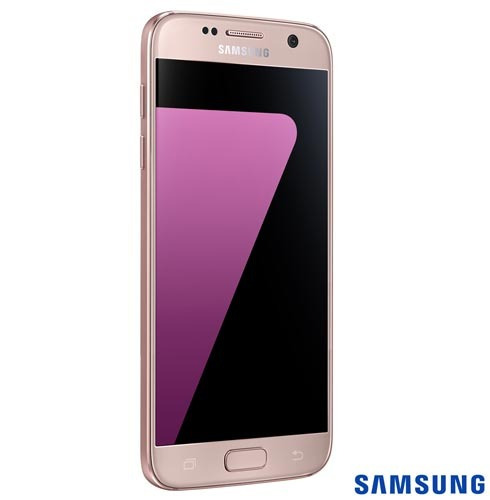 samsung galaxy s7 rosa, com tela de 5.1\ , 4g, 32 gb e câmer